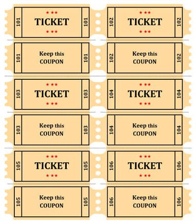 Printable Drawing Tickets at GetDrawings Free for personal use