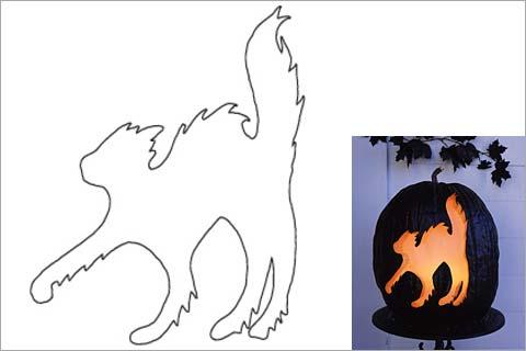 Pumpkin Drawing Template at GetDrawings Free for personal use - cat pumpkin template