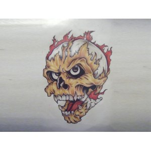 Flagrant Fire Tattoo Design Bicep Skull On Drawing At Free Personal Use