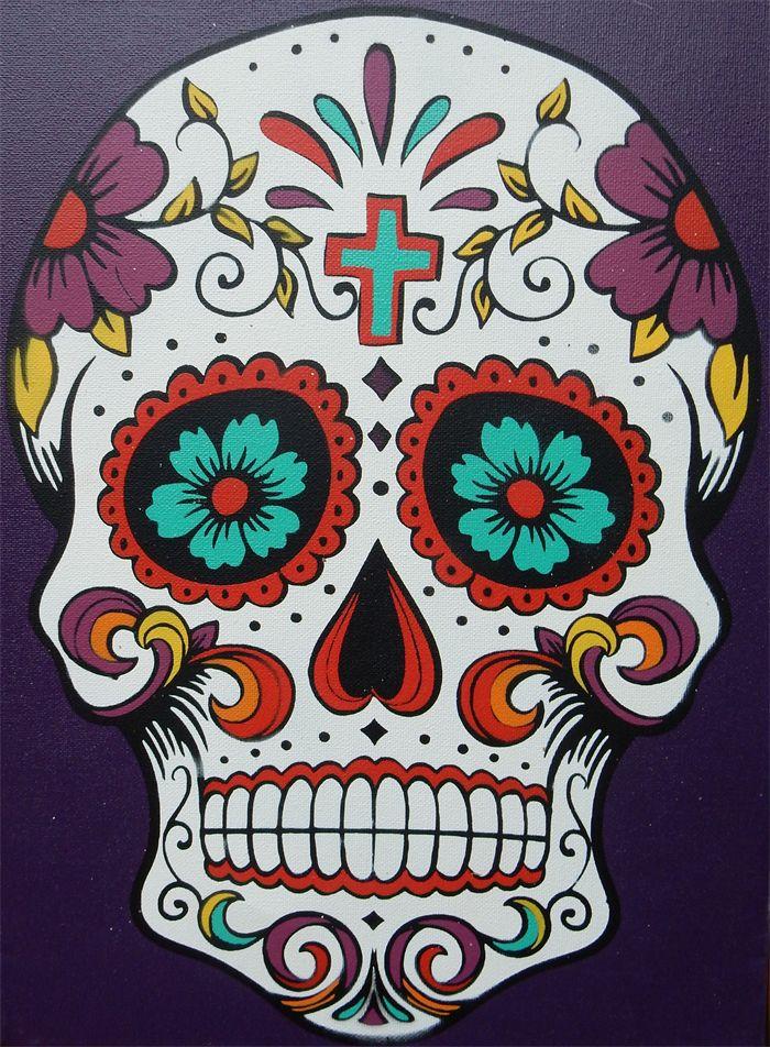 Sugar Skull Drawing Template at GetDrawings Free for personal