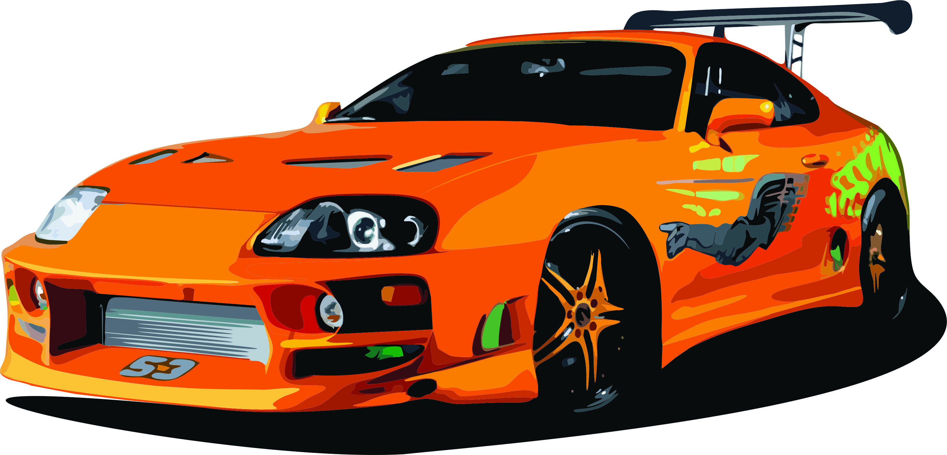 Toyota Supra From The Fast And The Furious Toyota Supra Drawing At Getdrawings Free For Personal Use