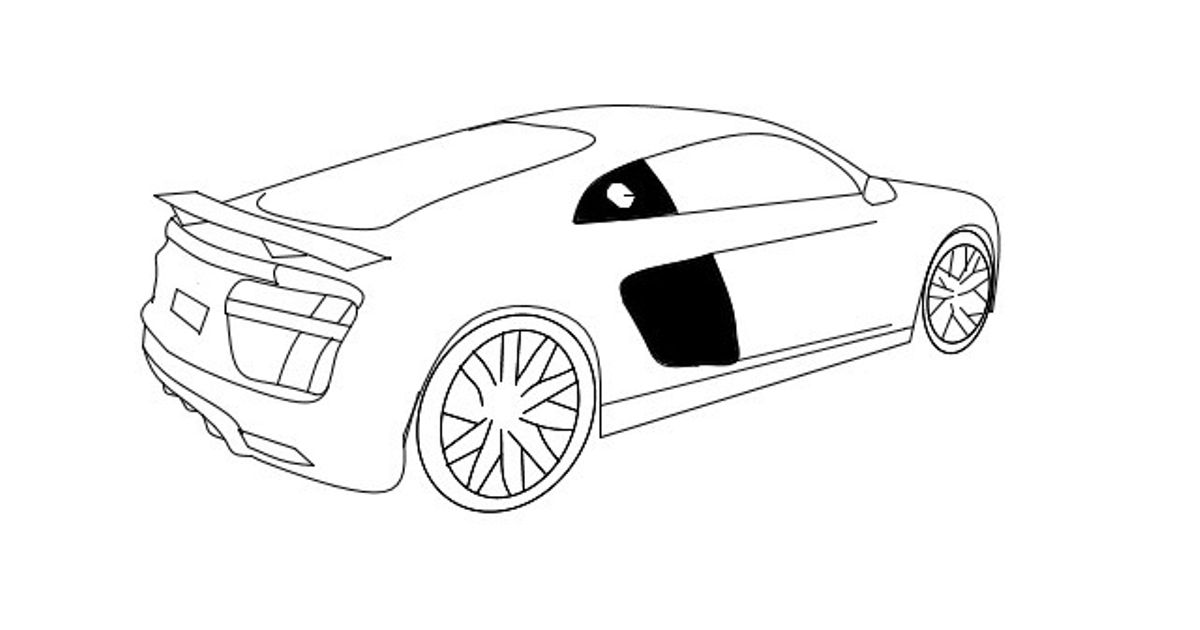 Audi Drawing at GetDrawings Free for personal use Audi Drawing - best of blueprint drawings of audi r8