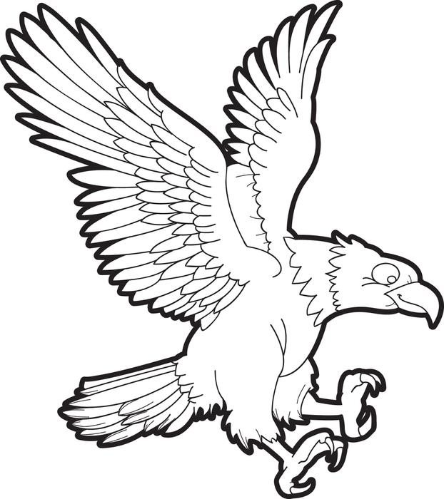 Bald Eagle Outline Drawing at GetDrawings Free for personal