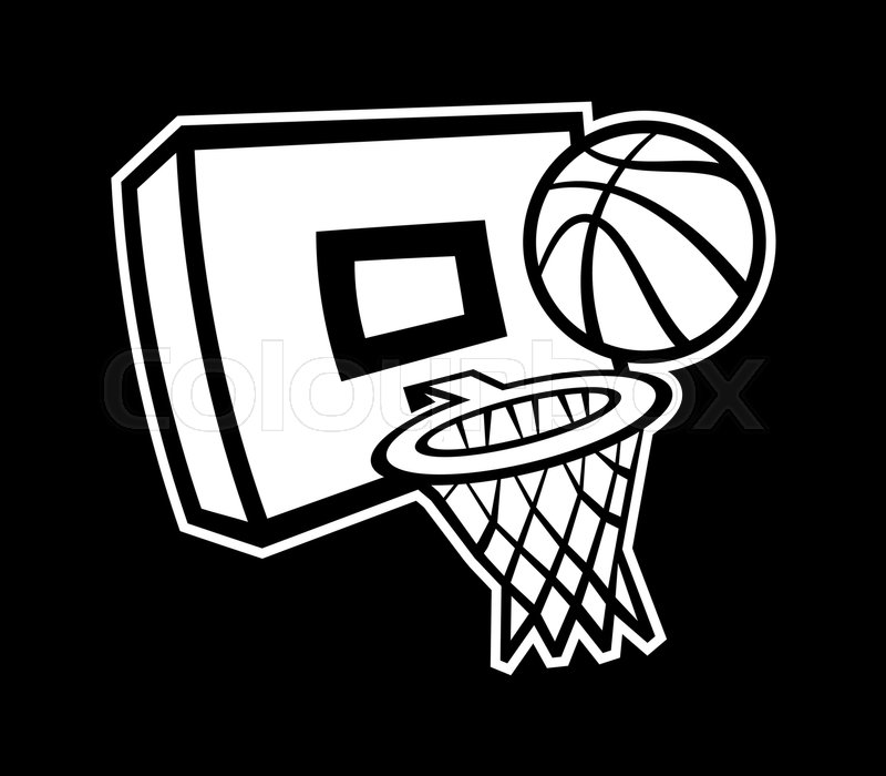 Basketball Goal Drawing at GetDrawings Free for personal use