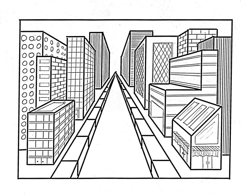 Building Perspective Drawing at GetDrawings Free for personal