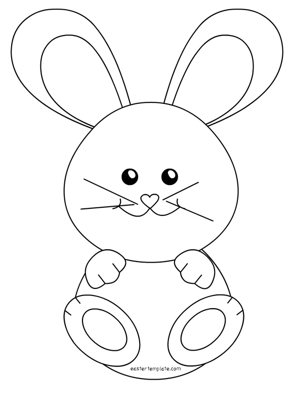 Bunny Outline Drawing at GetDrawings Free for personal use