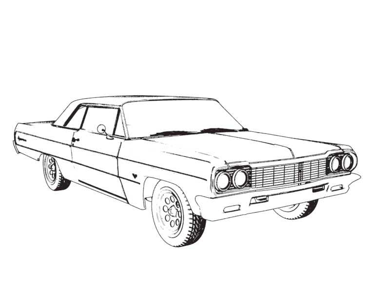 1970 chevrolet chevy ii nova coloring page
