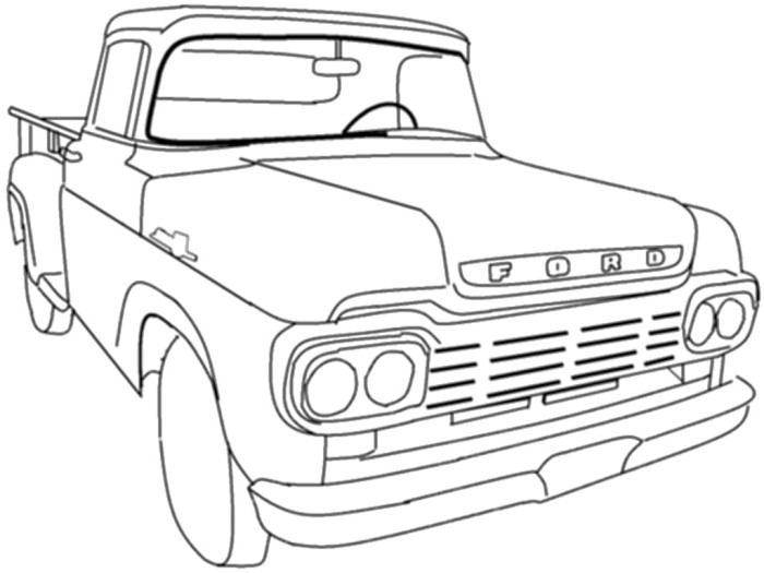 Chevy Truck Drawing at GetDrawings Free for personal use Chevy
