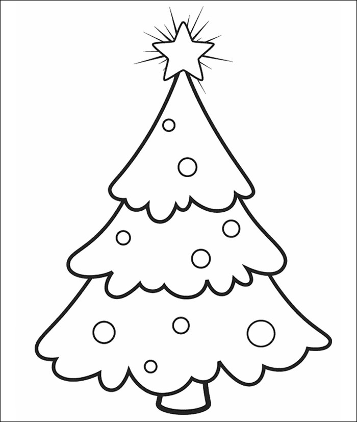 Christmas Tree Outline Drawing at GetDrawings Free for - christmas tree printables