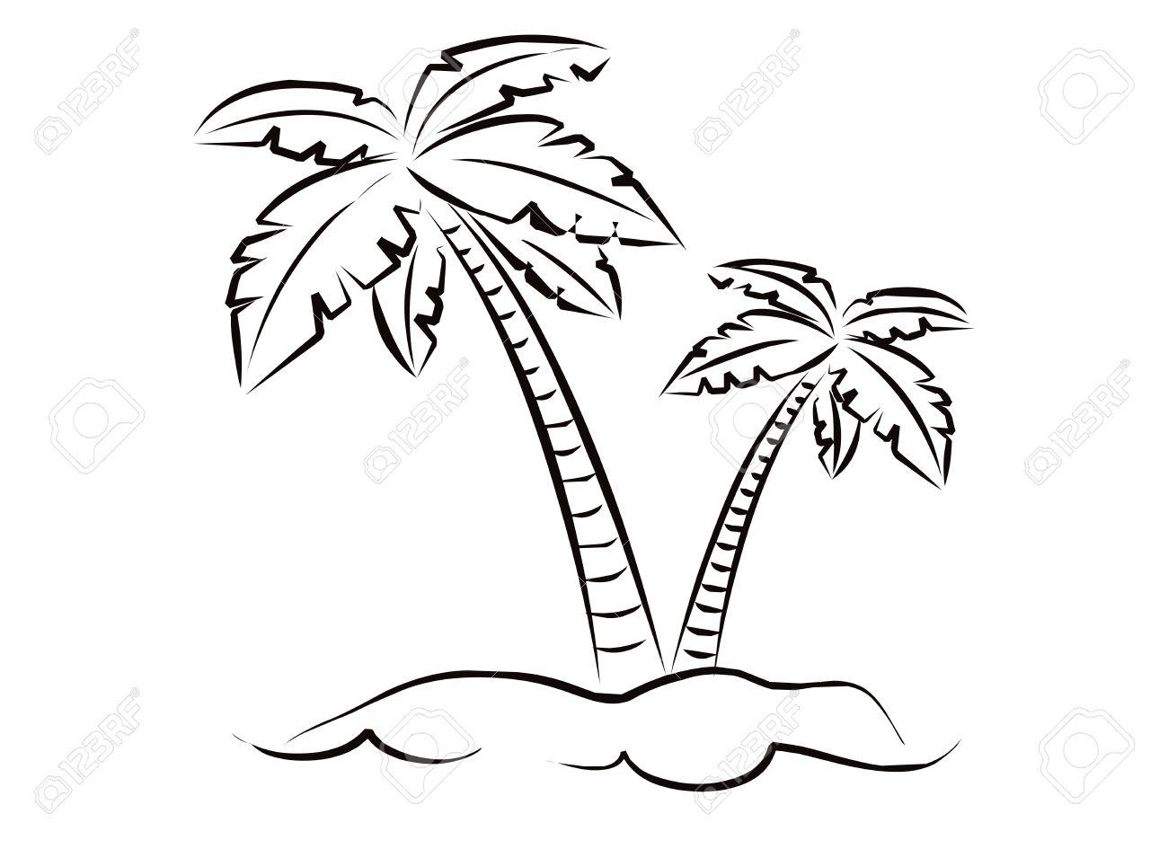 Palm Tree Coloring Page - Eskayalitim