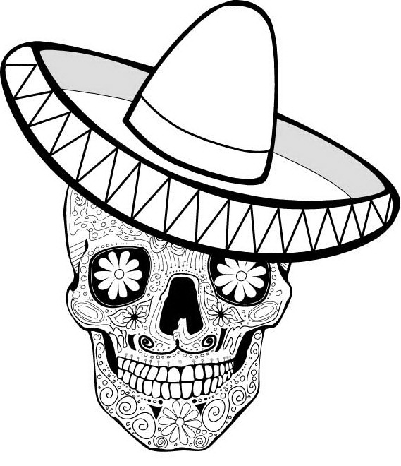 Day Of The Dead Skull Drawing at GetDrawings Free for personal