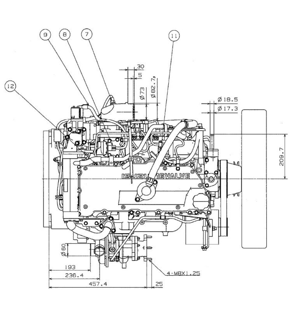 isuzo marine diesel engine ignition diagram