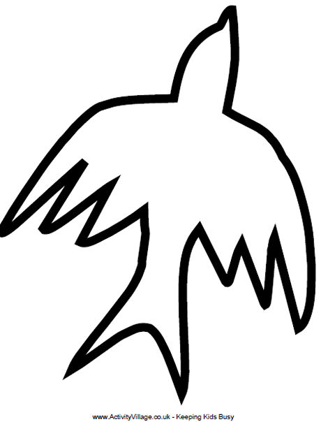 Dove Drawing Outline at GetDrawings Free for personal use Dove