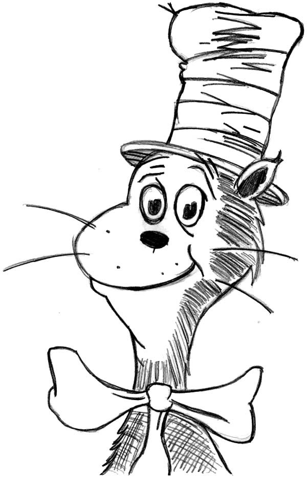 Dr Seuss Hat Drawing at GetDrawings Free for personal use Dr
