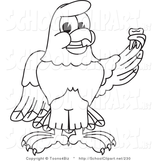 Eagle Mascot Drawing at GetDrawings Free for personal use