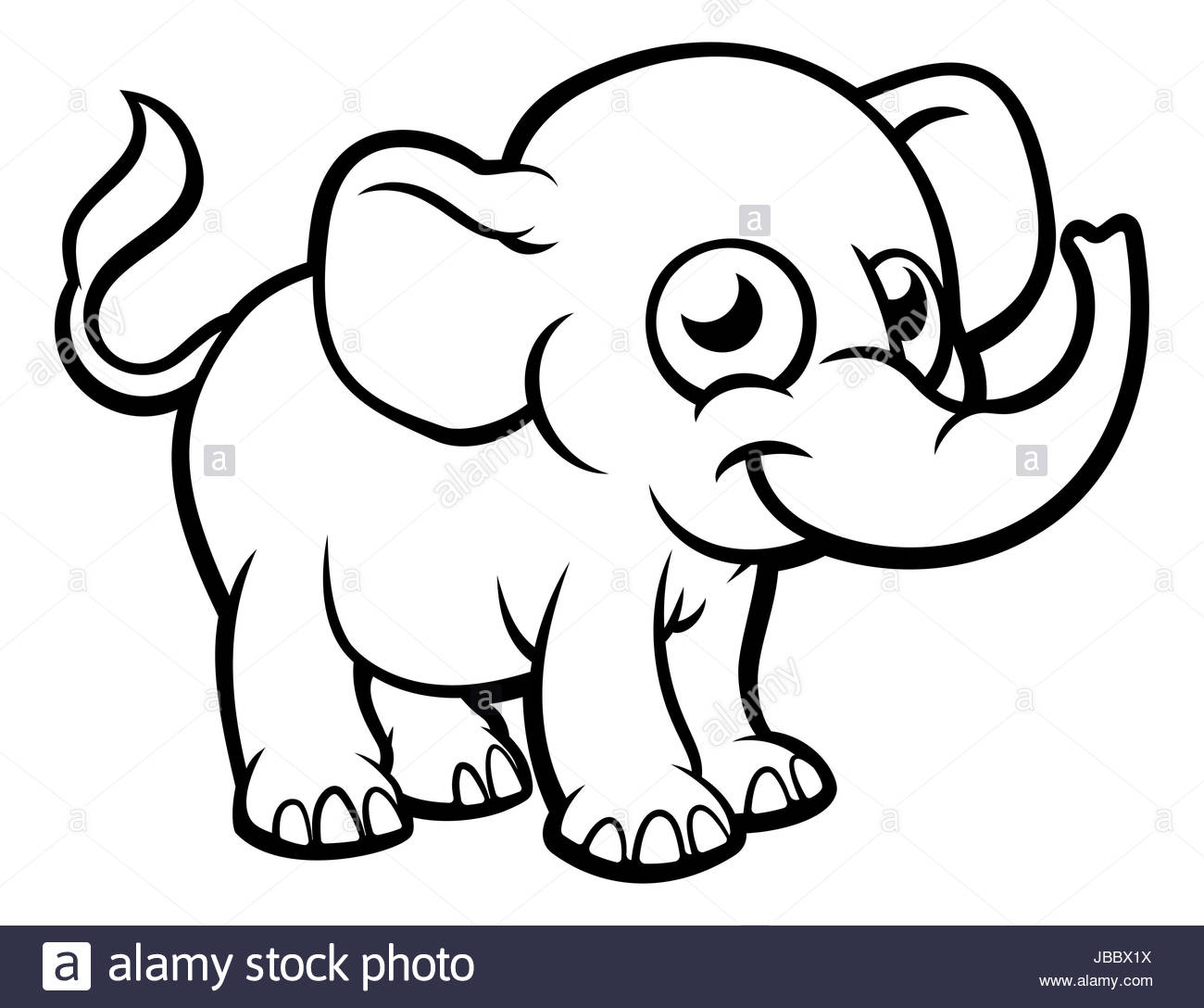 Cute Elephant Cartoon Wallpapers Elephant Black And White Drawing At Getdrawings Com Free