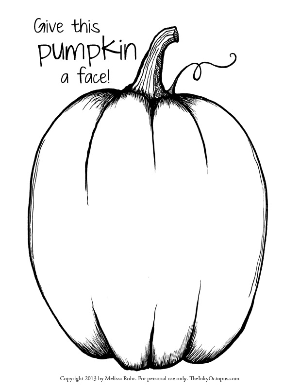 Face On A Pumpkin Drawing at GetDrawings Free for personal use