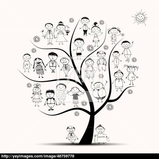 Family Tree Line Drawing at GetDrawings Free for personal use