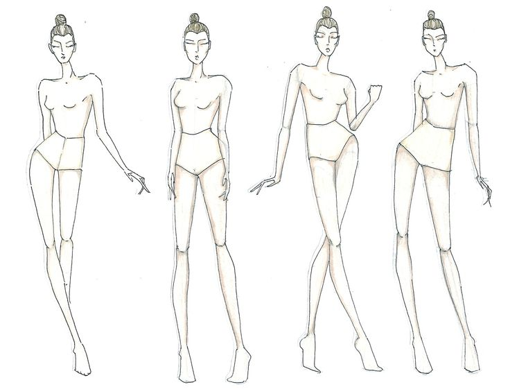 Fashion Model Figure Drawing at GetDrawings Free for personal