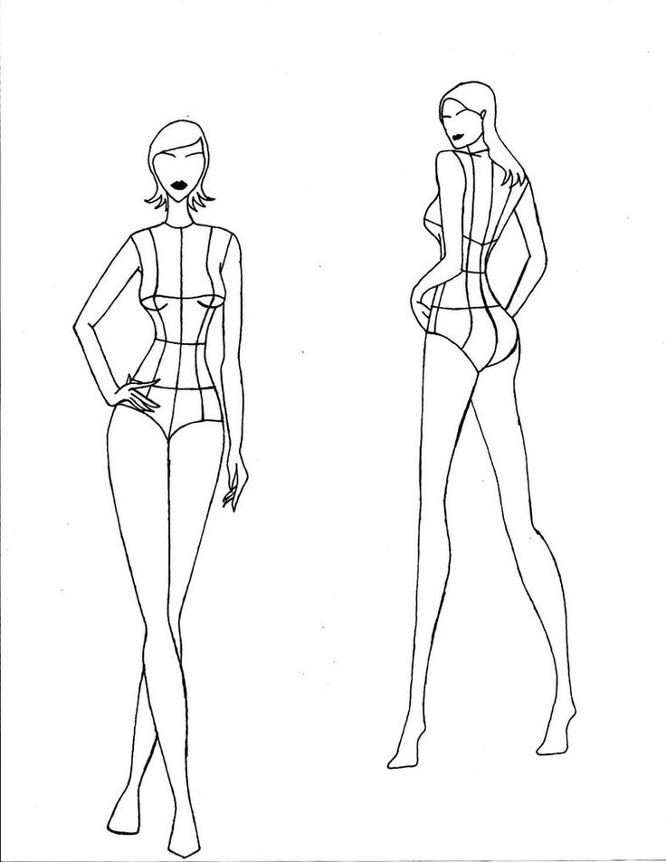 Fashion Poses Drawing at GetDrawings Free for personal use - fashion design template