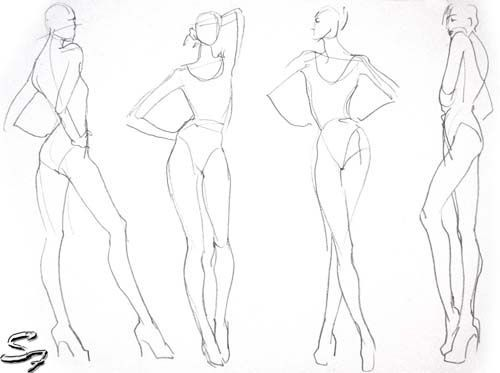Fashion Figure Drawing at GetDrawings Free for personal use