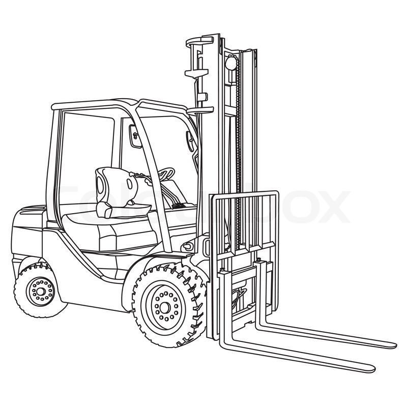 Fork Lift Drawing at GetDrawings Free for personal use Fork