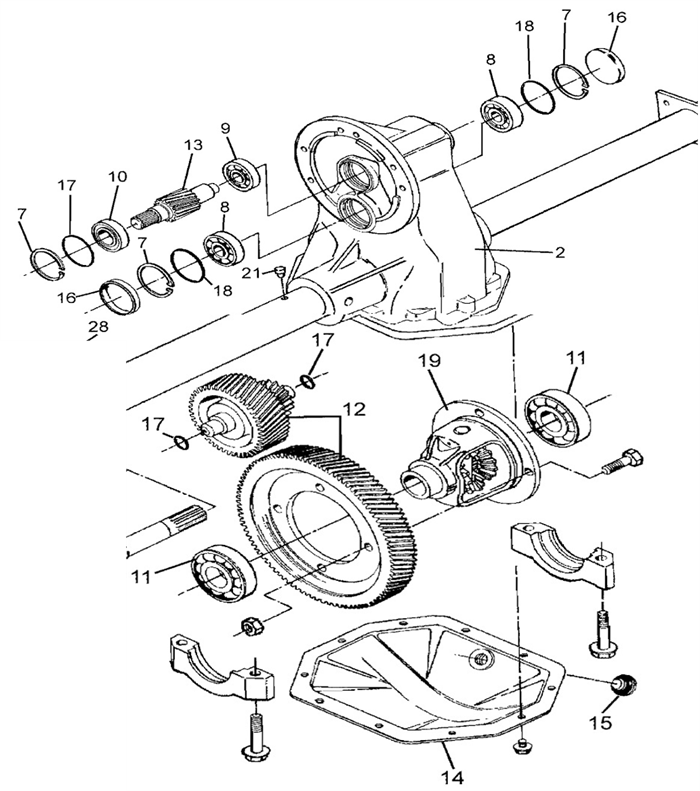 golf cart rear differential diagram