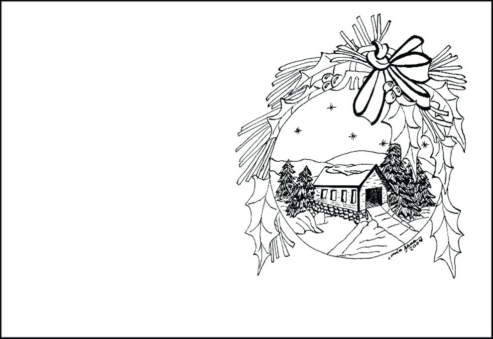 Greeting Cards Drawing at GetDrawings Free for personal use - christmas cards black and white