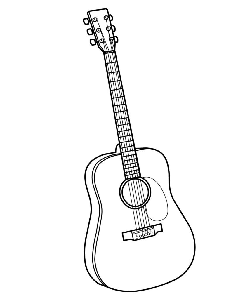 diagram of an acoustic and electric guitar