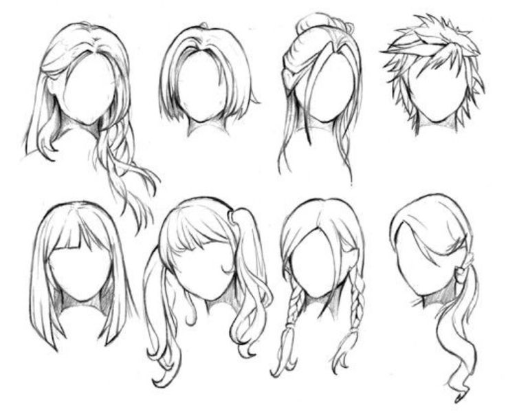 Hair Drawing At Getdrawingscom Free For Personal Use