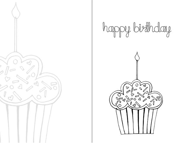 Happy Birthday Drawing Designs at GetDrawings Free for - happy birthday card templates free