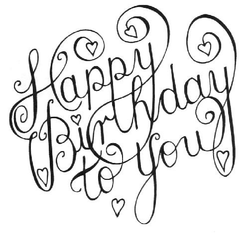 Happy Birthday Line Drawing at GetDrawings Free for personal