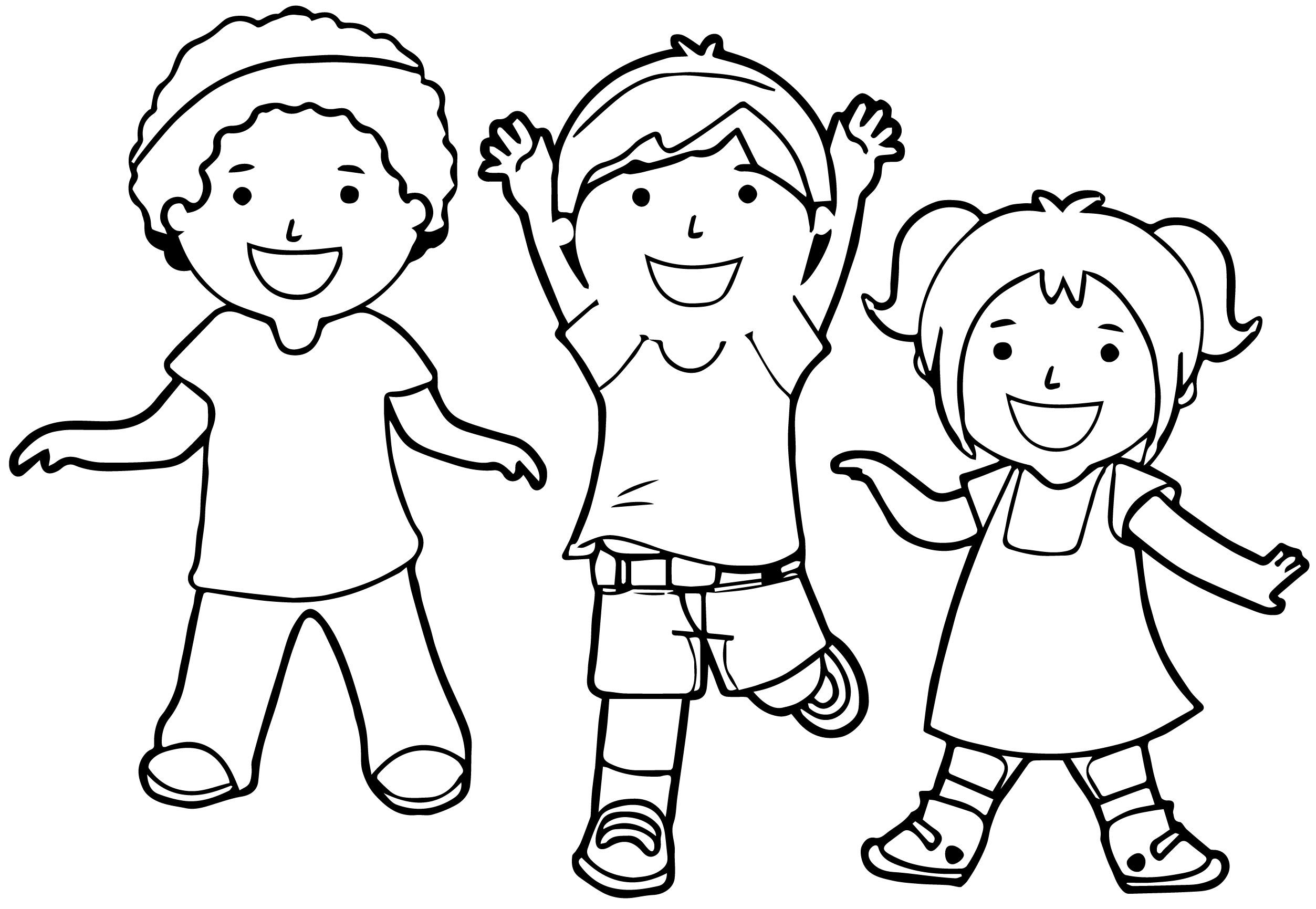Children Playing Coloring Pages - Eskayalitim
