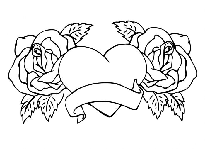 Heart And Rose Drawing at GetDrawings Free for personal use