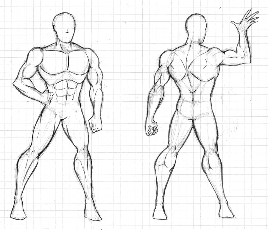 human body drawing template - Selol-ink