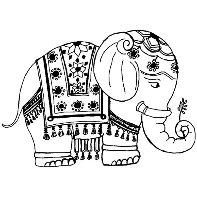 Indian Elephant Drawing at GetDrawings Free for personal use - best of indian tribal coloring pages