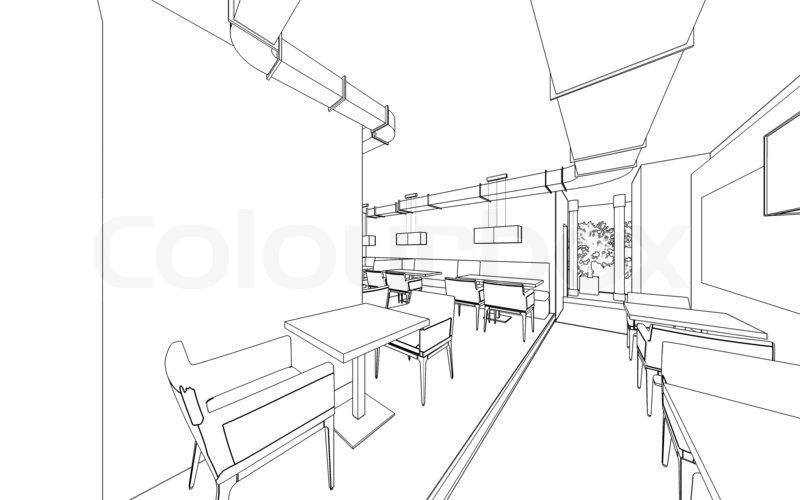 restaurant schematic drawing