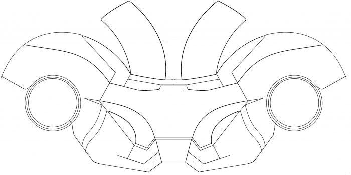 Iron Man Foam Helmet Template Pdf - Scales4U