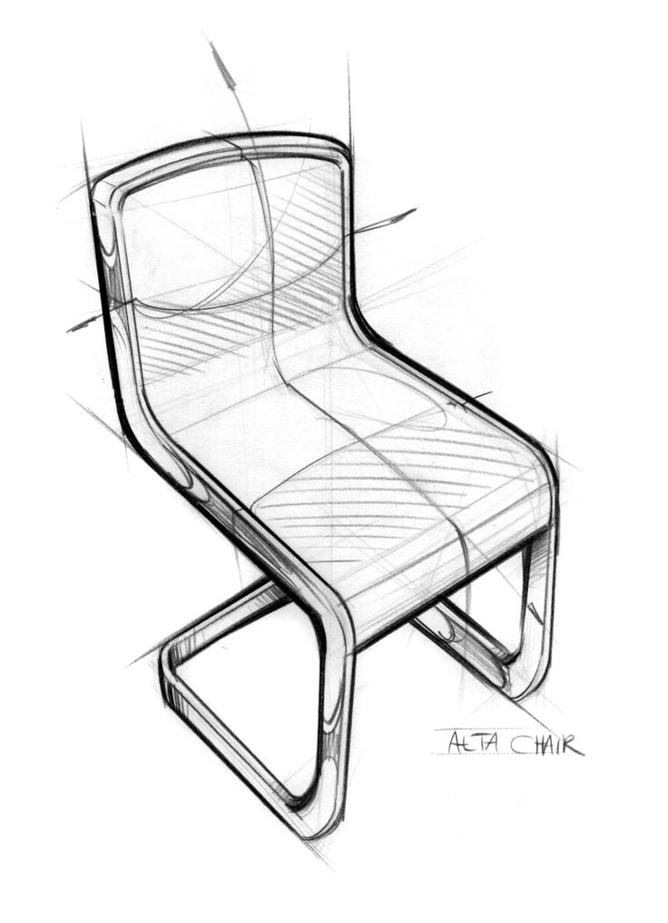 Isometric Drawing Of A Chair At Getdrawingscom Free For