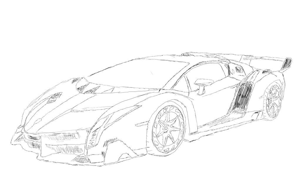 Comfortable Lamborghini Car Drawing At Getdrawingscom Free For