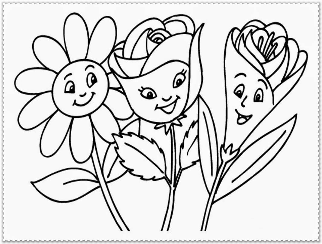 Coloring Pages For Spring Flowers Erieairfair