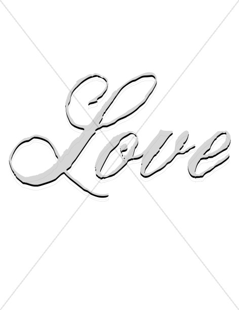 Love Word Drawing at GetDrawings Free for personal use Love