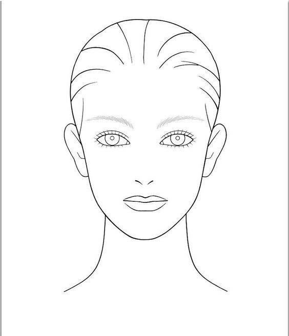 Makeup Face Drawing at GetDrawings Free for personal use - blank face template printable