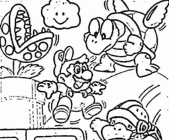 Mario Brothers Drawing at GetDrawings Free for personal use - mario coloring pages
