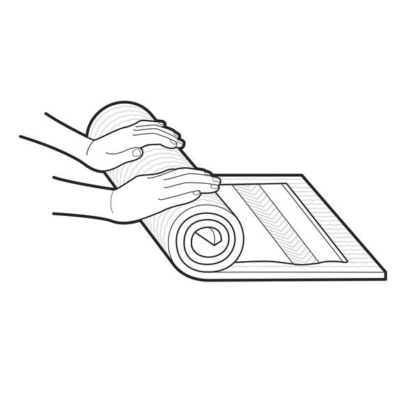 black ford logo rubber mat