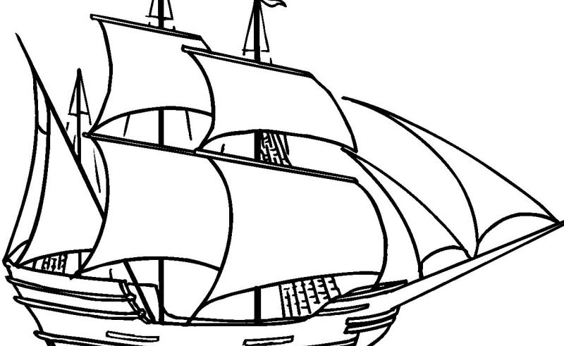 Mayflower Coloring Page - Eskayalitim