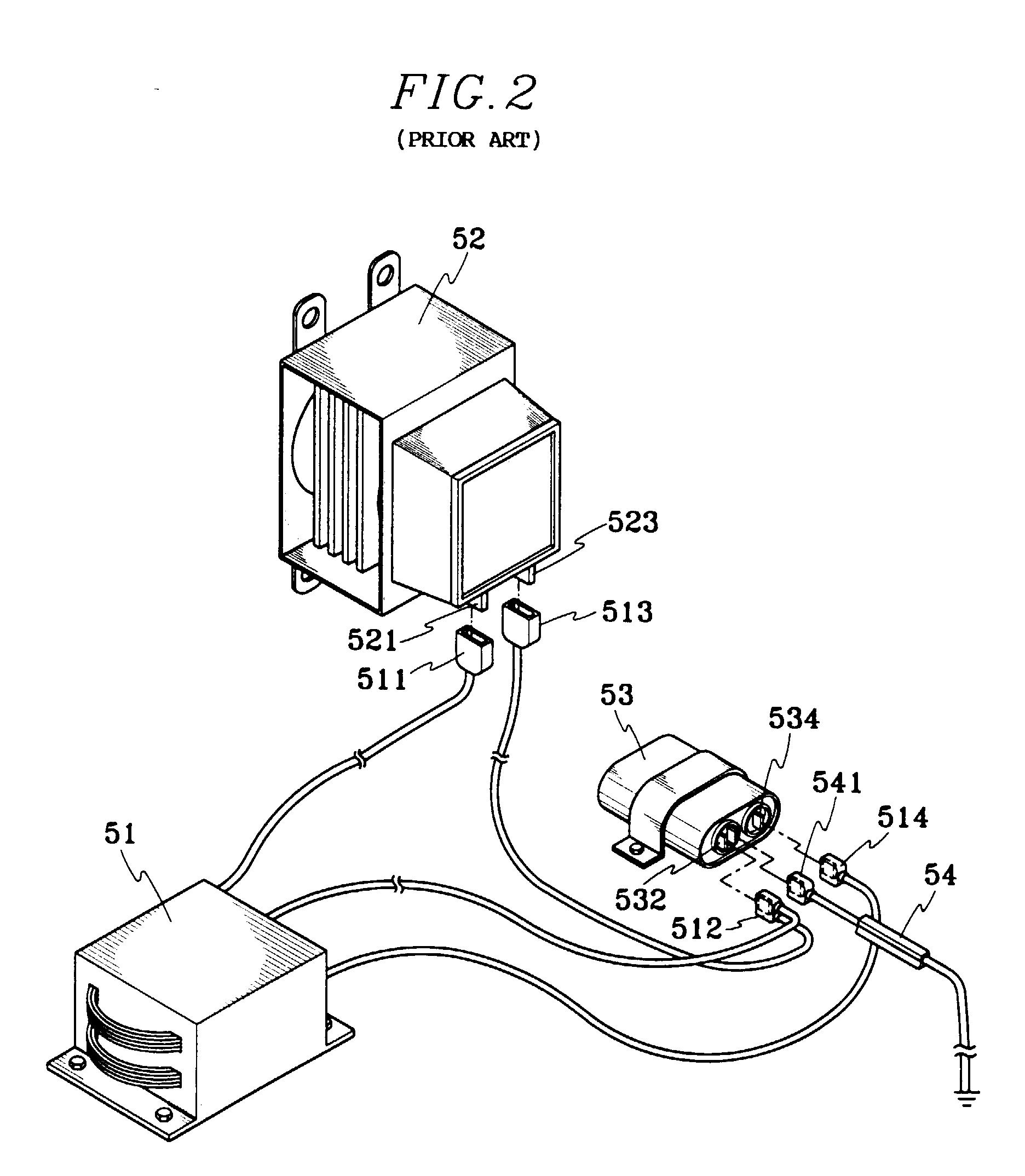 microwave wiring diagram capacitor