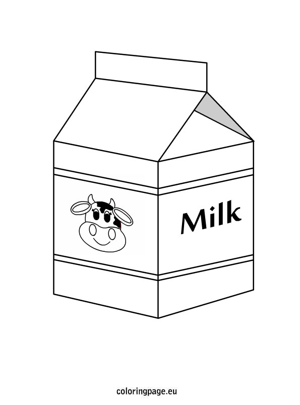 Milk Carton Drawing at GetDrawings Free for personal use Milk - Milk Carton Template