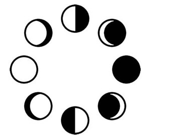 Moon Phases Drawing At Getdrawingscom Free For Personal