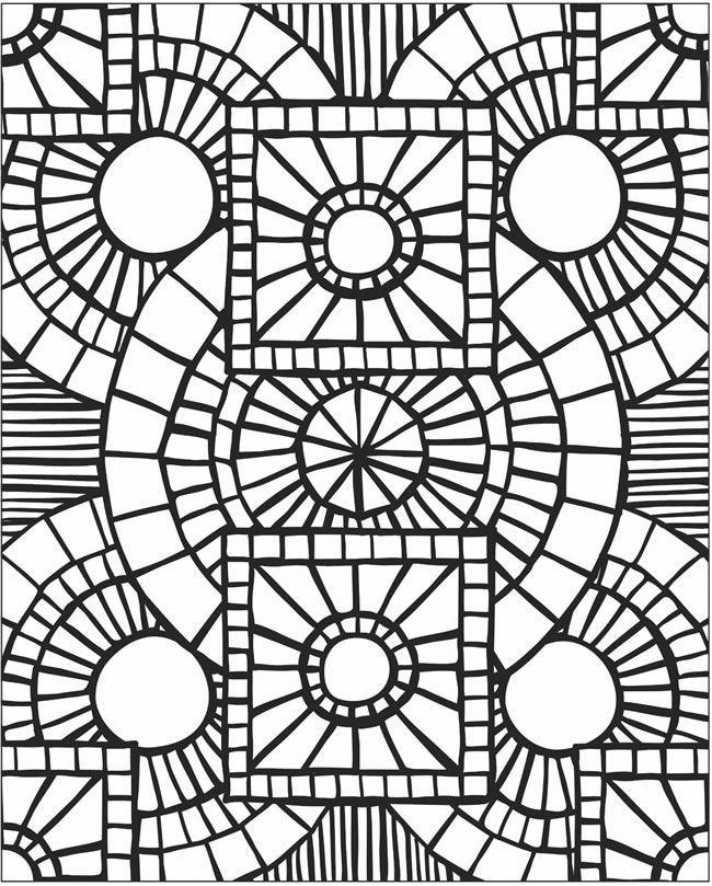 Mosaic Drawing at GetDrawings Free for personal use Mosaic
